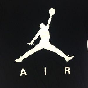 7c921752c813 Jordan Shirts - Nike Air Jordan T Shirt Mens Black Medium